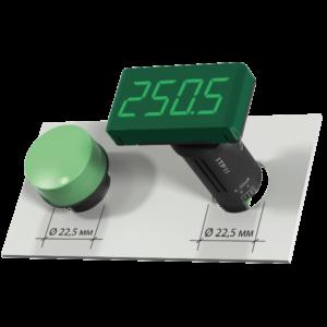 Zobrazovač ITP11-G zelený displej, montáž