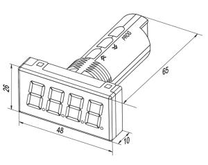 Zobrazovač 4-20mA ITP11 rozmery