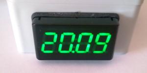 Panelový zobrazovač 4-20mA ITP11-G zelený