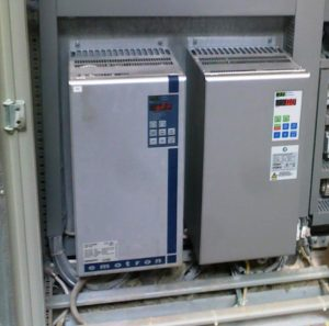 2 ks Softstarter Emotron instalacia rozbeh piestovych cerpadiel 250A a 170A
