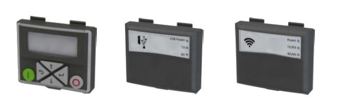 Ovládací displej PPU, ovládací panel USB a WiFi pre meniče Emotron