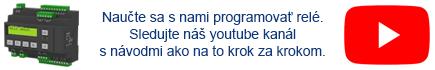 YouTube kanál VENIO - návod ako programovať programovateľné relé PR200