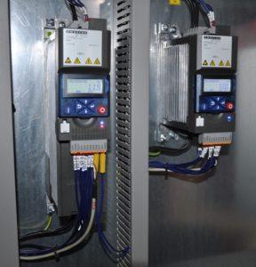 2x Frekvenčný menič Emotron DSV35 pre motory peletovacej linky