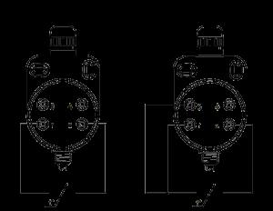 DTS125L - Vnútorné zapojenie snímača Pt100