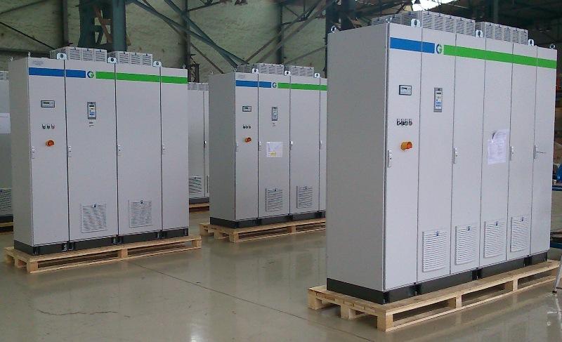 Frekvenčný menič Emotron FDU 2x1200A a 1x1500A pre motory ventilátorov