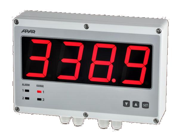 Univerzálny dvojkanálový zobrazovač APAR AR540 s písmom veľkosti 57 mm