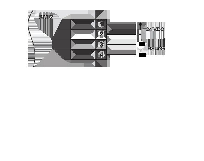 Zobrazovač 4-20mA SMI2 schéma zapojenie pre RS-485