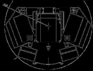 Kreslo Gessmann, pôdorys pracovnej rotácie