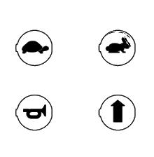 Symboly pre potlač na ovládacie tlačidlá HD