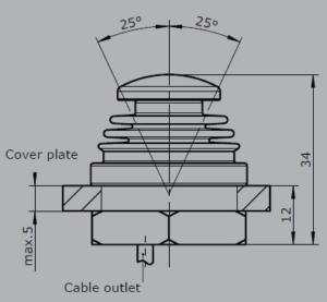 Základné rozmery ovládača V21